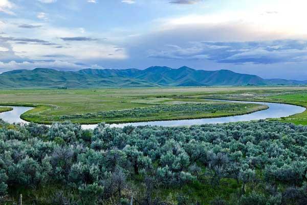 Bend of Silver Bow Creek near Sun Valley Idaho