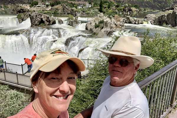 Selfie at Shoshone Falls