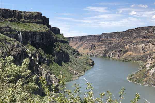 Snake River below Shoshone Falls