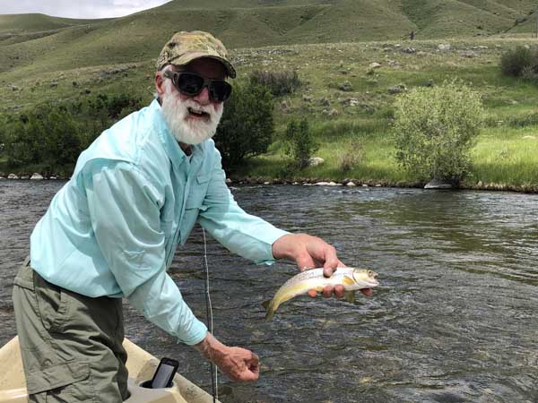 Barney and brown trout caught on the Madsion River