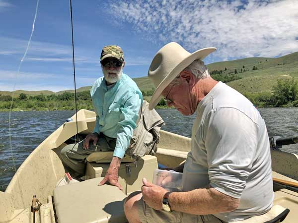 Choosing a fly on the Madison River