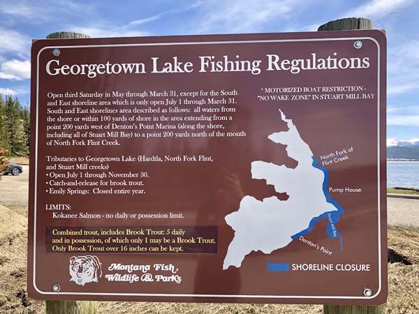 Georgetown Lake Fishing Regulations