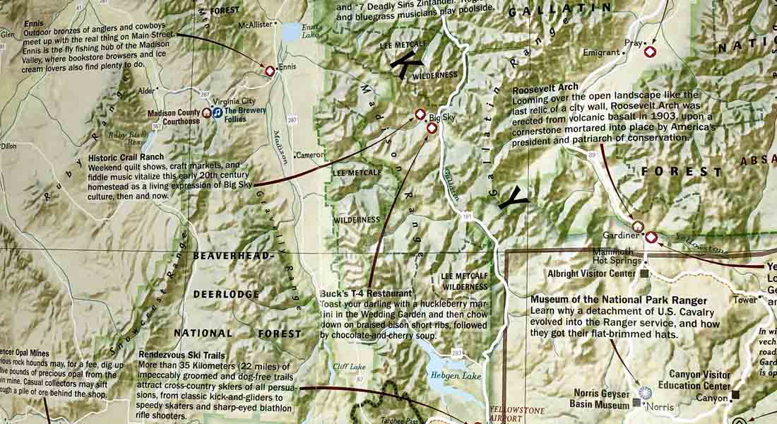 Map of the Madison Valley