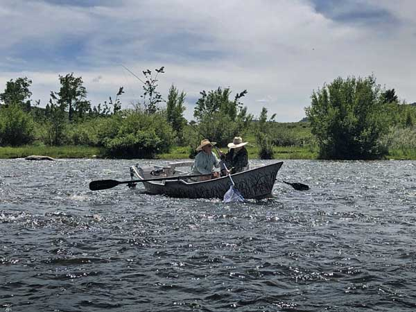Outfitter and client fishing the Madison River near Cameron