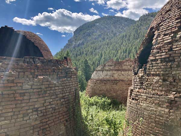 Remains of charcoal kilns in Montana