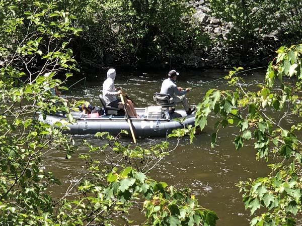 Float fishing Rock Creek in June