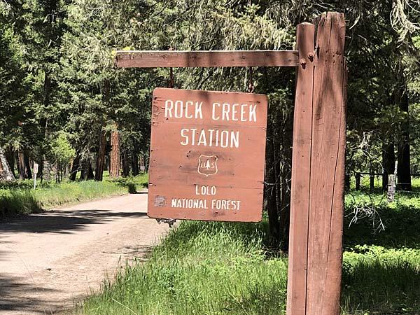 Rock Creek Station Sign
