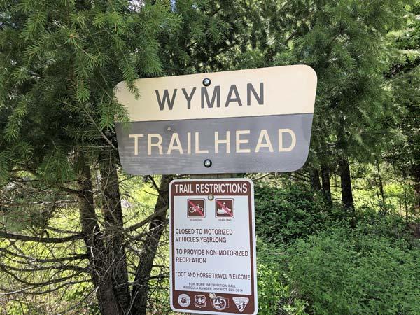Wyman Trailhead on Rock Creek