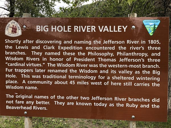Big Hole River Sign