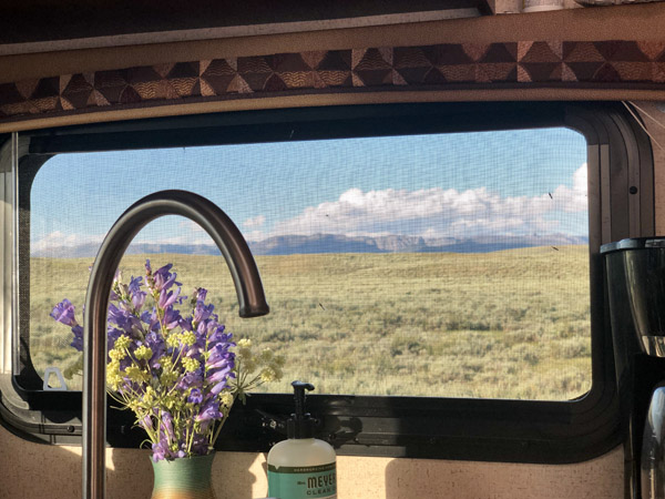 Camping near the Wind River Range in Wyoming
