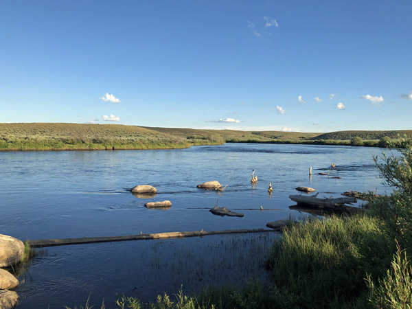Downstream on the Upper Green River near Cora Wyoming