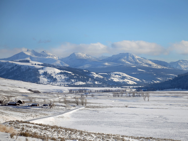 Lamar Valley in Yellowstone Park at Christmas
