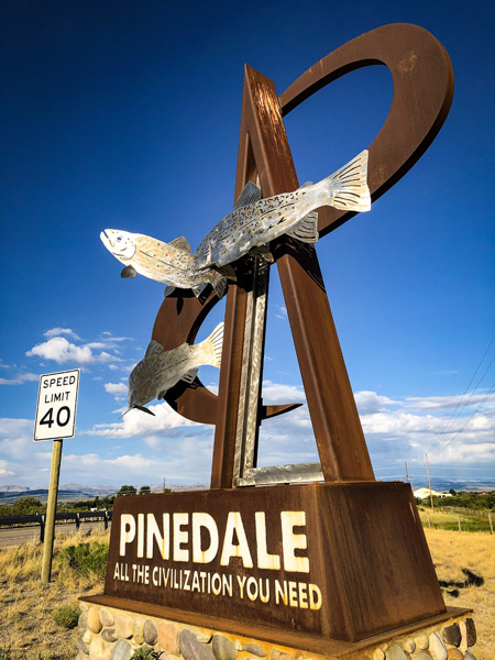 Pinedale Wyoming welcome sign