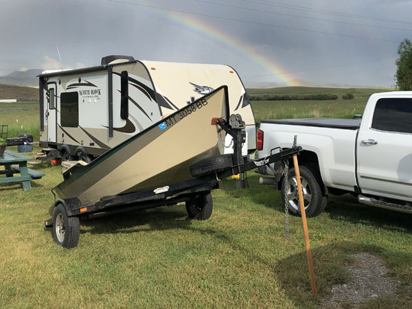 Rainbow in Melrose, Montana while camping