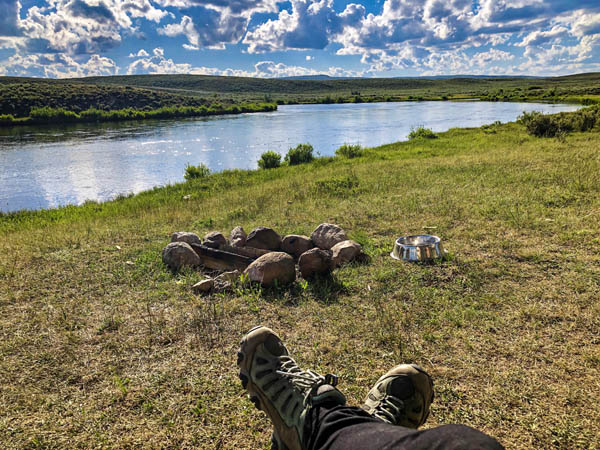 Relaxing on the Upper Green River near Cora and Pinedale Wyoming
