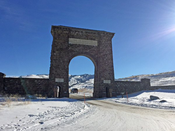 Roosevelt Arch on Christmas Day