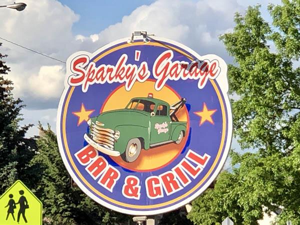 Sparky's Garage restaurant in Dillon, Montana