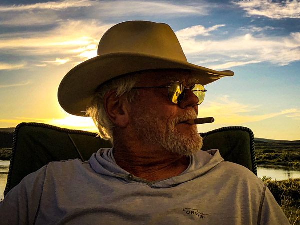 Tim relaxing after fishing the Upper Green River near Pinedale Wyoming