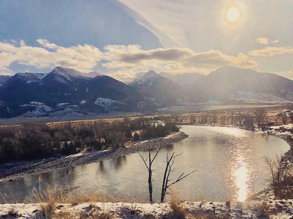 Yellowstone River at Mallard's Rest at Christmas