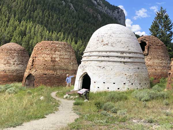 Viewing Restored Charcoal kilns near Melrose Montana