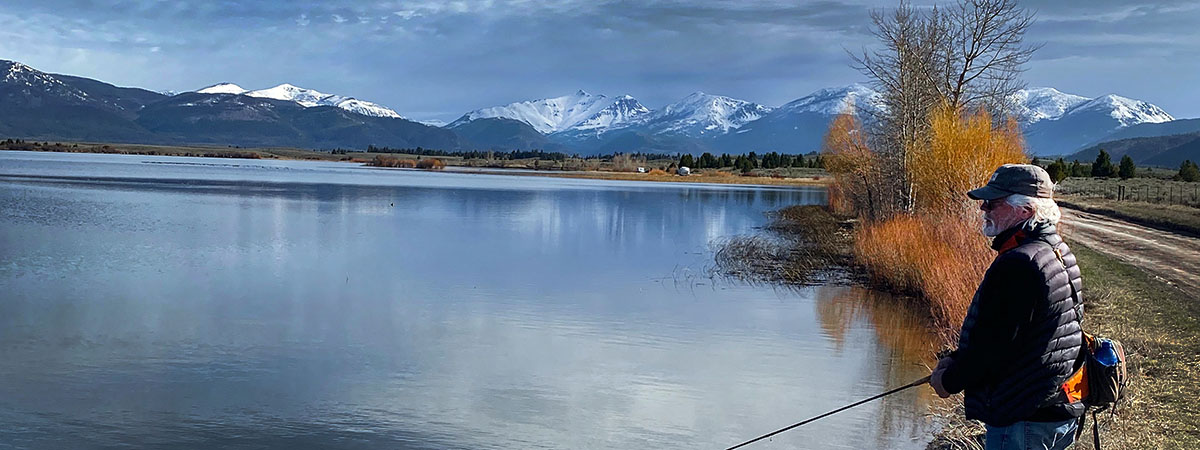 Browns Lake in Montana near the Blackfoot River