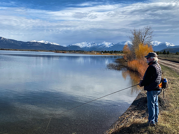 Fly Fishing Browns Lake in Montana in Late April