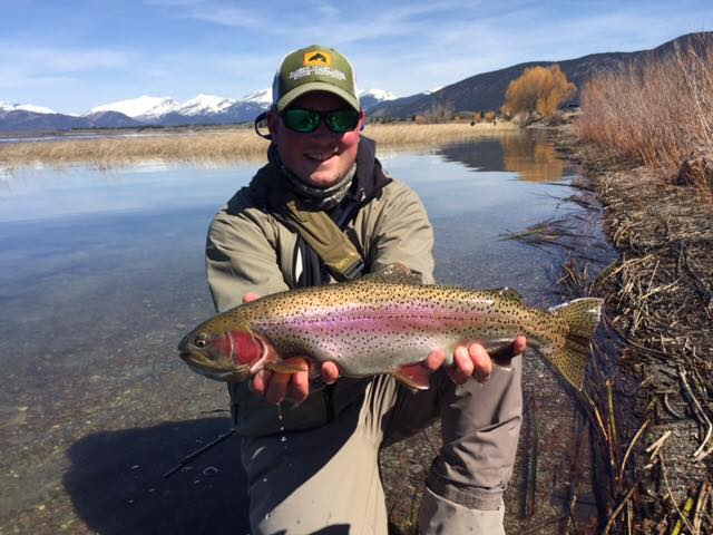 Greg Inglis With a Browns Lake Rainbow Trout