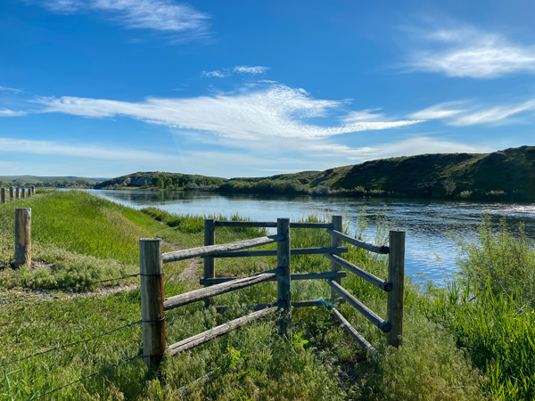 Fishing Access points on the Missouri River in Montana