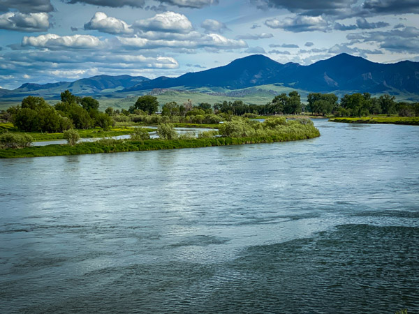 Missouri River in Cascade, Montana