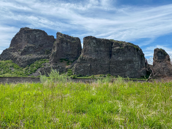 Mountain Palace Rock formation in the Missouri River Canyon