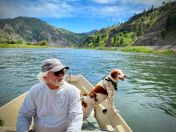 Watching for rising fish on the Missouri River near Cascade Montana