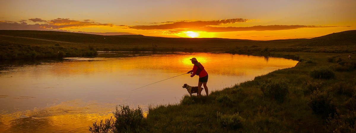 Fly Fishing the Upper Green River near Pinedale Wyoming in July