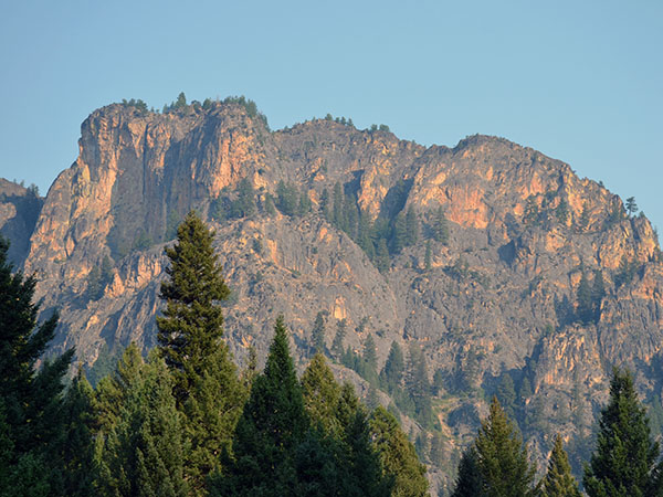 Cliffs along the West Fork Canyon