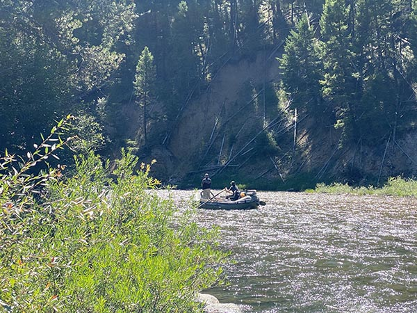 Fishing the River From a Raft on the West Fork