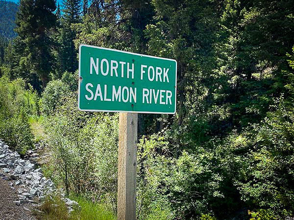 North Fork Salmon River Road Sign