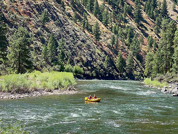 Rafting the Salmon River in Idaho