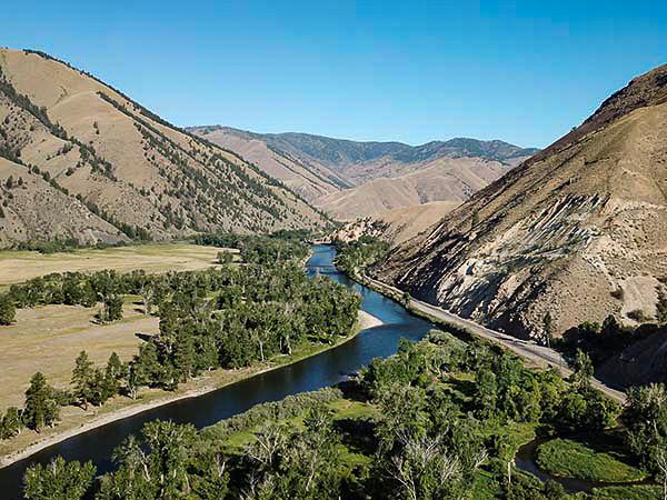 The Salmon River Near Wagonhammer