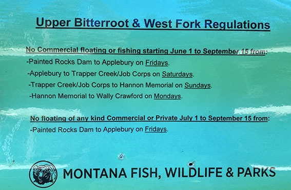 West Fork of the Bitterroot Fishing Regulations