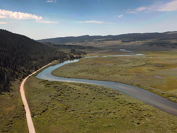 Winding Green River in Wyoming