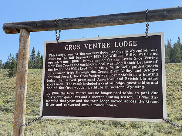 Gros Ventre Lodge Sign