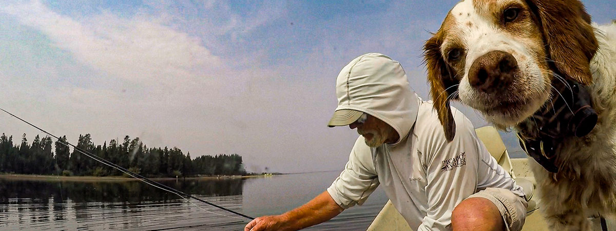 Fly FIshing with Belle and Tim on Hebgen Lake