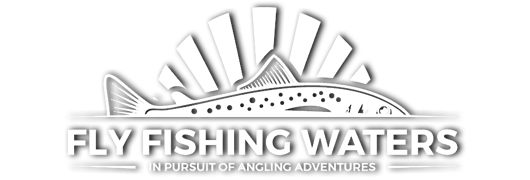 Fly Fishing Waters PNG Logo With Drop Shadow