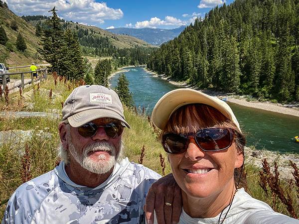 Tim and Lisa Savard on the Snake River
