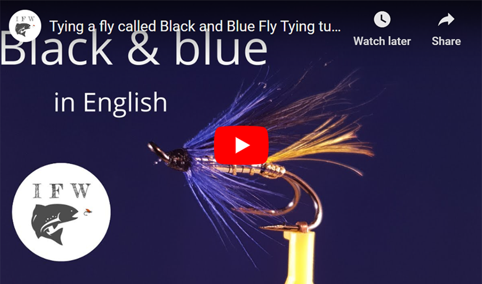 Tying a Fly Called Black and Blue