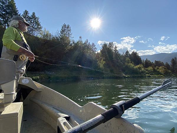 Fly fishing the Clark Fork River near Sloway