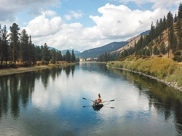 Fly FIshing the Clark Fork River near Sloway