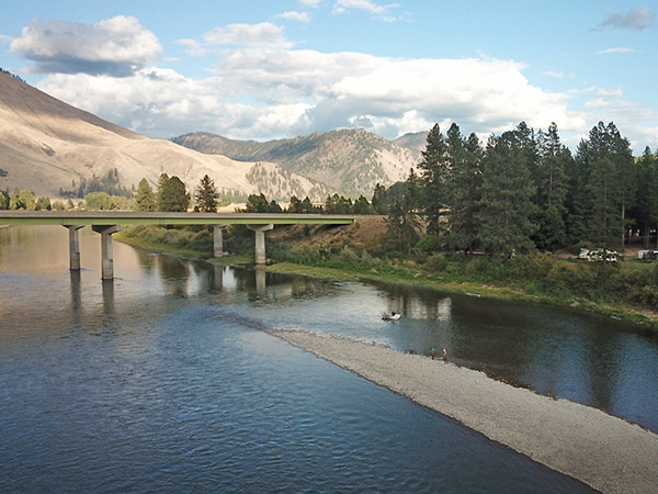 The Clark Fork River at Sloway Campground