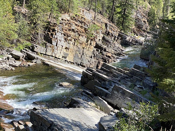 Falls on the Yaak River in Montana
