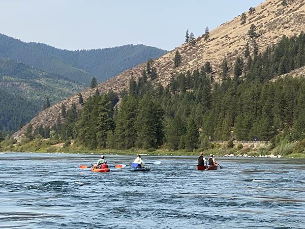 Kayakers on the Kootenai River in Libby