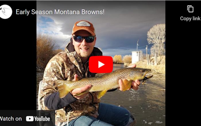 Streamer fishing in spring in Montana